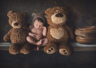 newborn composite photo Prague