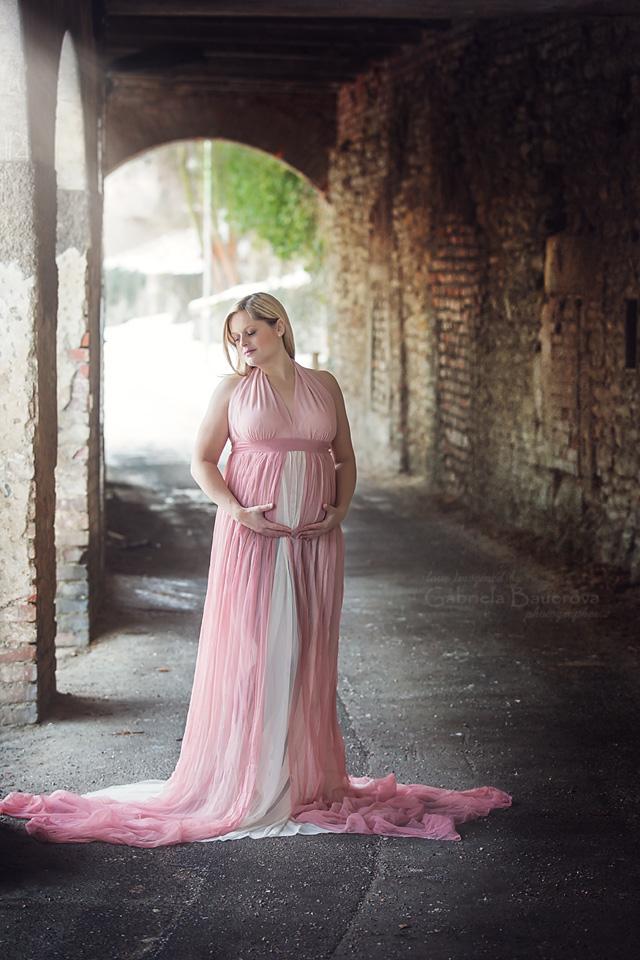zimní těhotenská fotografie